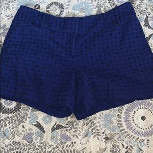 Loft blue and black geometric patterned shorts